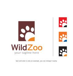wild zoo logo template design vector image