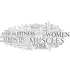 Women fitness text word cloud concept vector