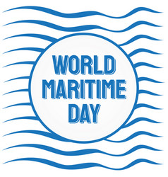 World maritime day with abstract wave background vector
