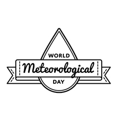 World meteorological day greeting emblem vector