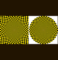 background taxi yellow black square circular vector image