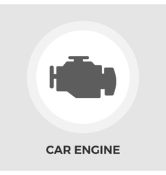 Engine flat icon vector image vector image