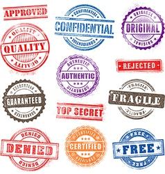 Grunge Commercial Stamps Set2 vector image