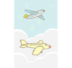 Jets in Clouds vector image vector image