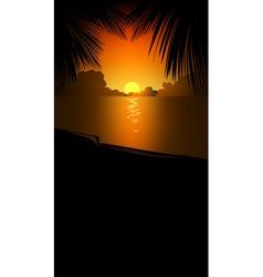 orange beach background vector image