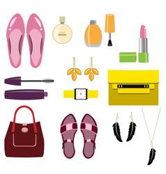 set of stylish women accessories vector image