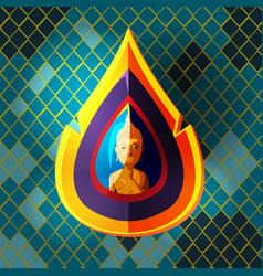 asian buddha culture art style vector image