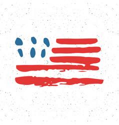 grunge hand drawn usa flag american abstract vector image