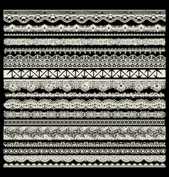 Lace trims vector image vector image