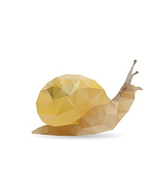 Snail abstract vector image