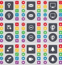 Venus symbol Message Monitor Floppy disk Minus vector image