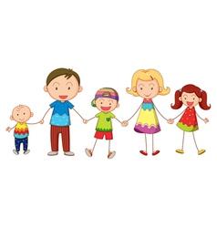 Cartoon Family Portrait vector image vector image