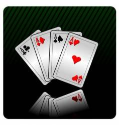 casino illustration with cards vector image