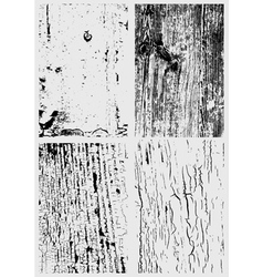 Cracked paint and wooden surface texture bundle vector image