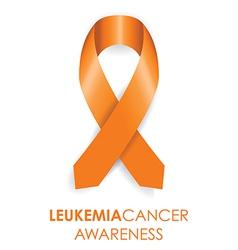 leukemia cancer awareness ribbon vector image vector image