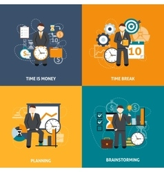 Time Management Flat vector image vector image