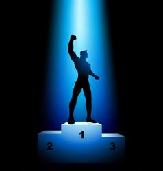 winner on the rank podium vector image
