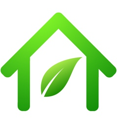 green house symbol vector image
