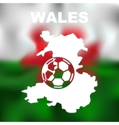 Wales abstract map vector