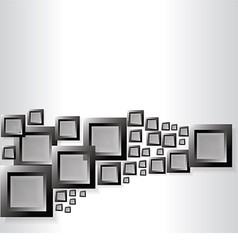 Abstract background with black squares vector