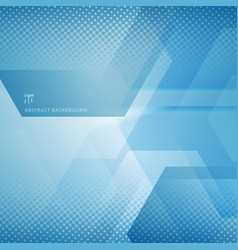 abstract geometric hexagons overlapping vector image
