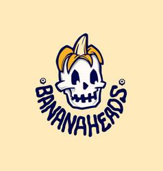 banana heads logo vector image