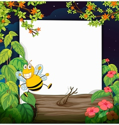 Bee and a white board vector image
