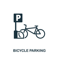 bicycle parking icon monochrome style design from vector image