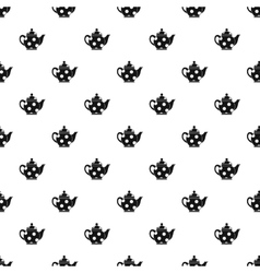Black spotty teapot pattern simple style vector