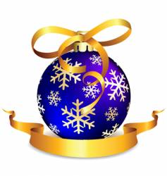 blue christmas ball on white vector image
