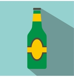 Bottle flat icon vector image