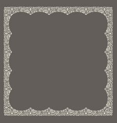 calligraphic square ornament frame lines vector image