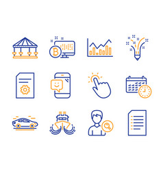 carousels inspiration and file settings icons set vector image
