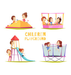 Children playground design concept vector