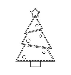 christmas cartoon isolated concept in black and vector image