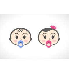 Close up portrait of little baby child kid girl vector image