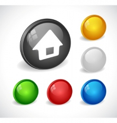 color 3d buttons for web vector image