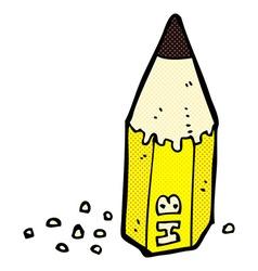 Comic cartoon pencil stub vector