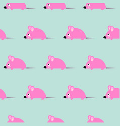 cute kid mice design seamless pattern vector image
