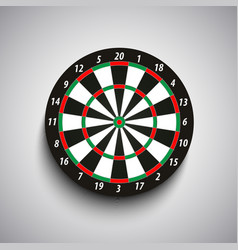 Dart board with green and red fields template vector