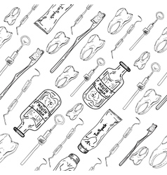 Dental seamless pattern vector