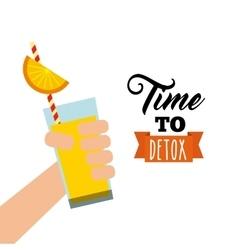 Detox icon Organic food design graphic vector