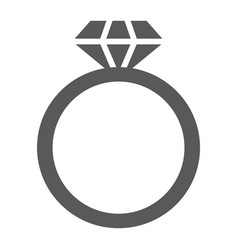 diamond ring glyph icon jewelry and marriage vector image