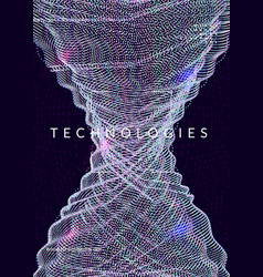 digital technology abstract background artificial vector image