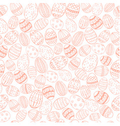 easter colored seamless vector image