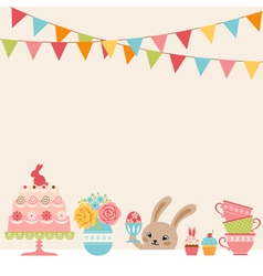 Easter party vector image