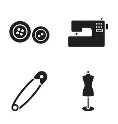 Electric sewing machine dummy on the stand pin vector
