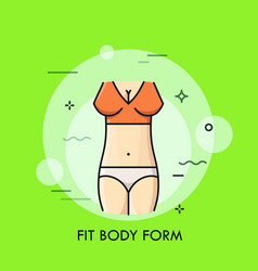 fit body form thin line concept vector image