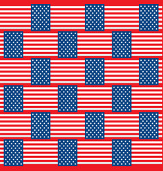 Flag of usa seamless pattern vector