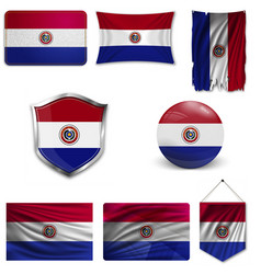 Flag paraguay vector